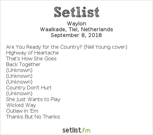 Waylon Setlist Appelpop 2018 2018