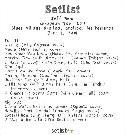 Jeff Beck Setlist Holland International Blues Festival 2018 2018