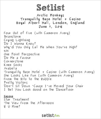 Arctic Monkeys Setlist Royal Albert Hall, London, England 2018, Tranquility Base Hotel + Casino Tour