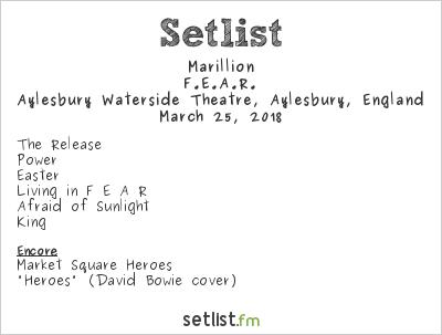 Marillion Setlist Earthly Messenger Benefit Concert 2018, F.E.A.R.