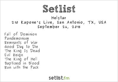 Helstar Setlist 210 Kapone's Live, San Antonio, TX, USA 2015