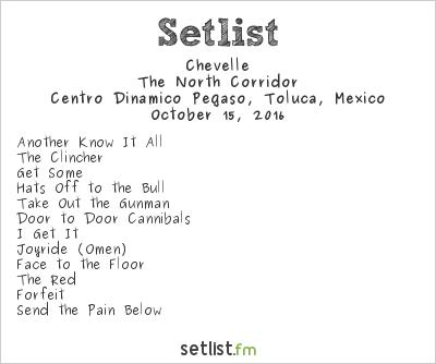 Chevelle Setlist Knotfest México 2016 2016, The North Corridor