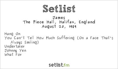 James Setlist Piece Hall, Halifax, England 1989