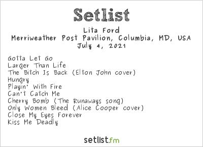 Lita Ford at M3 Rock Festival 2021 Setlist
