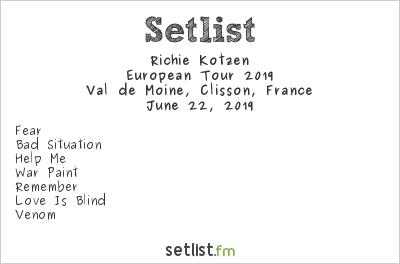 Richie Kotzen Setlist Hellfest 2019, European Tour 2019