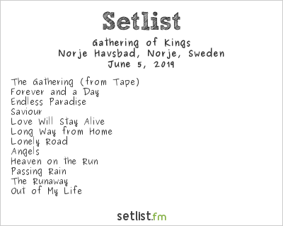 Gathering of Kings Setlist Sweden Rock Festival 2019 2019