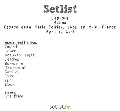 Leprous Setlist Espace Jean Marie Poirier, Sucy-en-Brie, France 2019, Malina