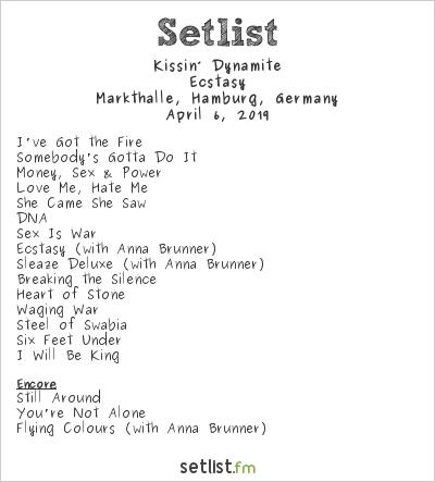 Kissin' Dynamite Setlist Markthalle, Hamburg, Germany 2019, Ecstasy
