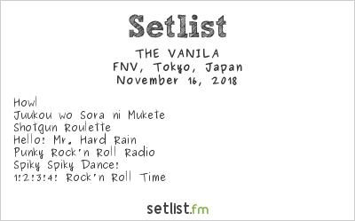 THE VANILA Setlist FNV, Tokyo, Japan 2018