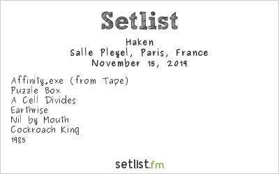 Haken Setlist Salle Pleyel, Paris, France 2019