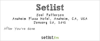 Joel Patterson at Deke Dickerson's Guitar Geek Festival 2012 Setlist