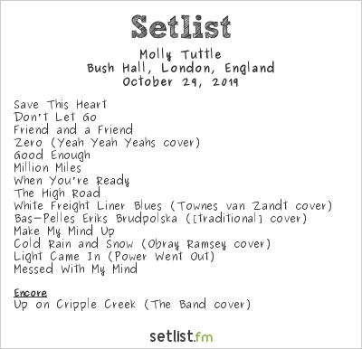 Molly Tuttle Setlist Bush Hall, London, England 2019