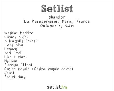 Shandon Setlist La Maroquinerie, Paris, France 2019
