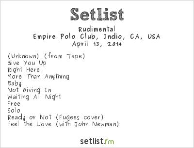 Rudimental Setlist Coachella Festival 2014 2014