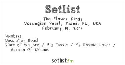 The Flower Kings Setlist Progressive Nation at Sea 2014 2014