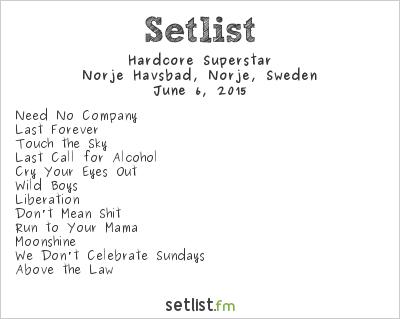 Hardcore Superstar Setlist Sweden Rock Festival 2015 2015