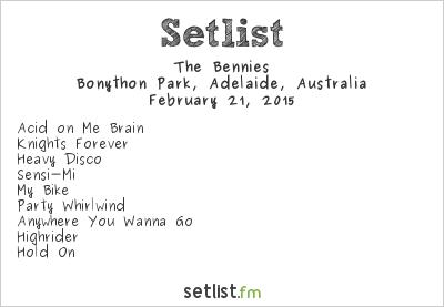The Bennies Setlist Soundwave Adelaide 2015 2015
