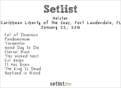 Helstar Setlist 70,000 Tons of Metal 2015 2015