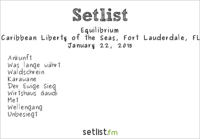 Equilibrium Setlist 70,000 Tons of Metal 2015 2015