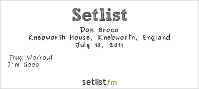 Don Broco Setlist Sonisphere UK 2011 2011, Sonisphere Festival