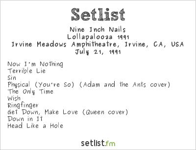 Nine Inch Nails at Irvine Meadows Amphitheatre, Irvine, CA, USA Setlist