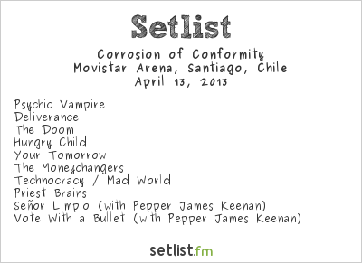 Corrosion of Conformity Setlist Metal Fest 2013 2013