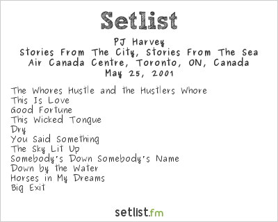 PJ Harvey Setlist Air Canada Centre, Toronto, ON, Canada 2001, Stories from the City, Stories from the Sea