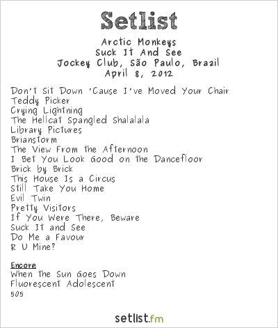 Arctic Monkeys Setlist Lollapalooza Brazil 2012 2012, Suck It And See Tour