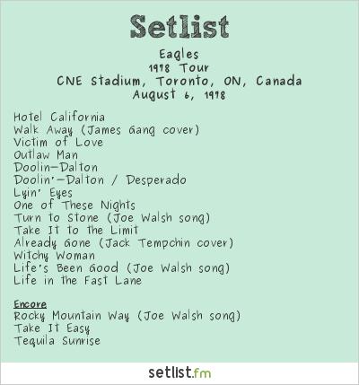 Eagles Tour  Setlist