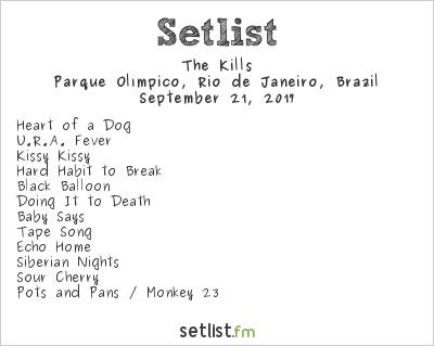 The Kills Setlist Rock in Rio 7 2017