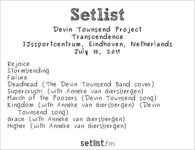 Devin Townsend Project Setlist Dynamo Metal Fest 2017 2017, Transcendence