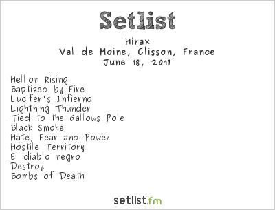 Hirax Setlist Hellfest 2017 2017