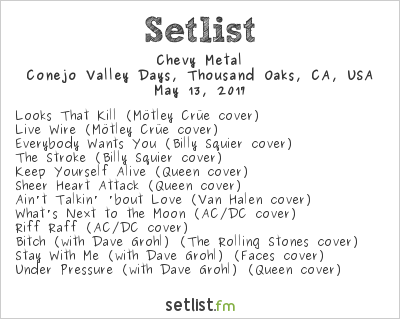 Chevy Metal Setlist Conejo Valley Days, Thousand Oaks, CA, USA 2017