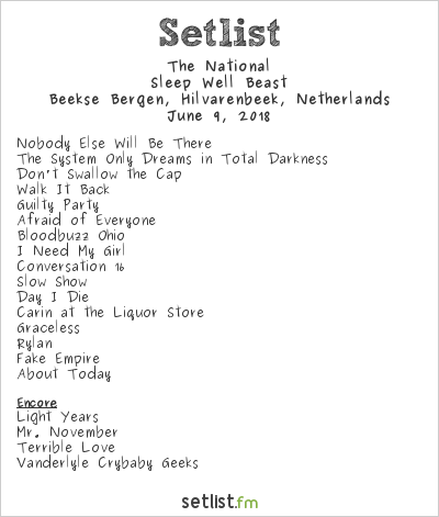 The National Setlist Best Kept Secret 2018 2018, Sleep Well Beast