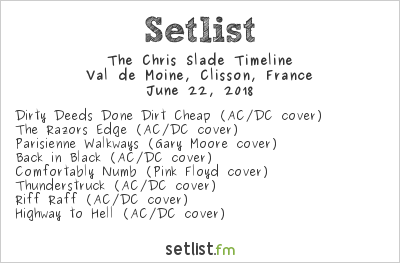 The Chris Slade Timeline Setlist Hellfest 2018 2018