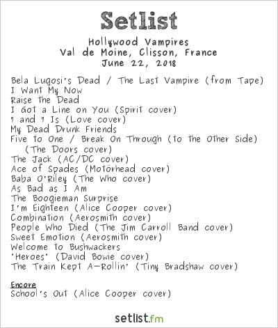 Hollywood Vampires Setlist Hellfest 2018 2018