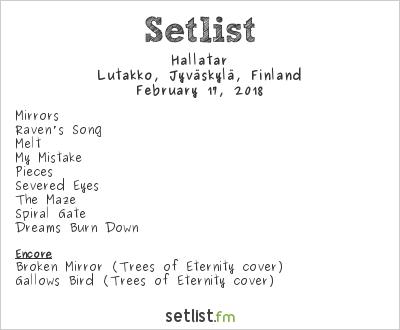 Hallatar Setlist Lutakko, Jyväskylä, Finland 2018