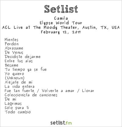 Camila Elypse Tour Setlist