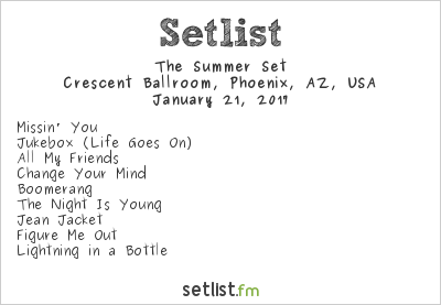 The Summer Set Setlist 8123 Fest 2017 2017