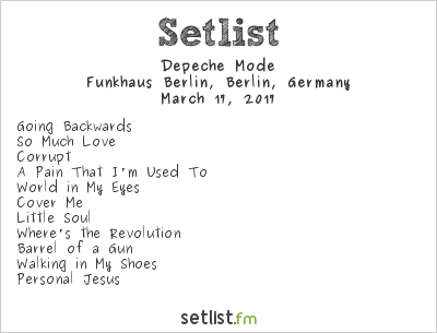 Depeche Mode Setlist Funkhaus, Berlin, Germany, Global Spirit Tour 2017