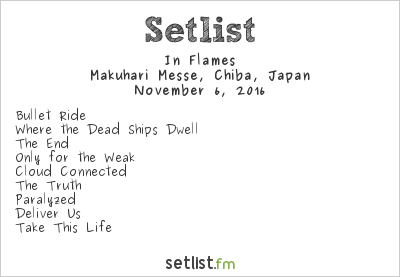 In Flames Setlist Knotfest Japan 2016 2016