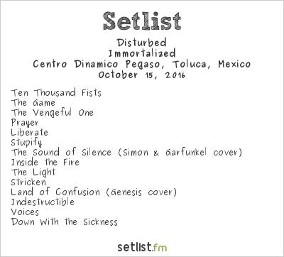 Disturbed Setlist Knotfest México 2016 2016, Immortalized