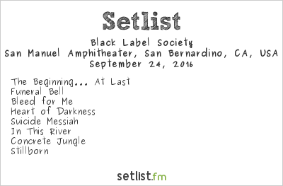 Black Label Society Setlist Ozzfest Meets Knotfest 2016 2016