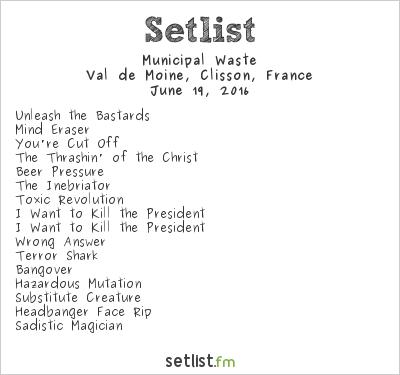 Municipal Waste Setlist Hellfest 2016 2016