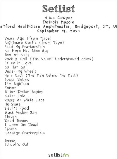 Alice Cooper Setlist Hartford HealthCare Amphitheater, Bridgeport, CT, USA 2021, Detroit Stories