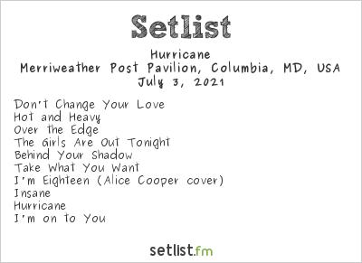 Hurricane at M3 Rock Festival 2021 Setlist