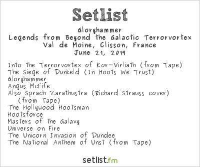 Gloryhammer Setlist Hellfest 2019 2019, Legends from Beyond the Galactic Terrorvortex