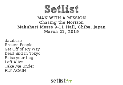MAN WITH A MISSION Setlist Download Japan 2019, Chasing The Horizon European Tour 2019