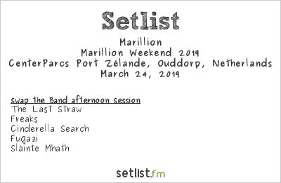 Marillion Setlist Marillion Weekend Convention NL 2019, Marillion Weekend 2019