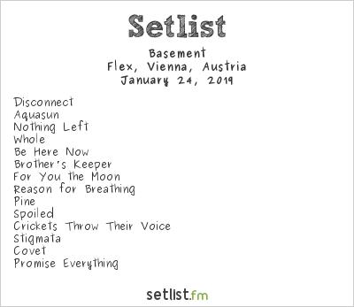 Basement Setlist Flex, Vienna, Austria 2019